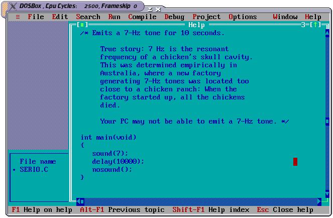 Turbo C Unix Linux Forums Programming