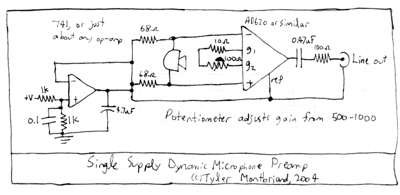 Dynamic Microphone Preamp Circuit Diagram Dynamic Microphone Preamp